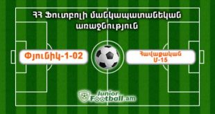 pyunik102 havaqakanm15 juniorfootball.am junior football