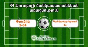 pyunik204 gandzasaryerevan04 juniorfootball.am junior football