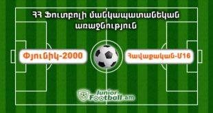 pyunik2000 havaqakanm16 juniorfootball.am junior football