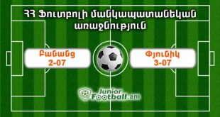 banants207 pyunik307 juniorfootball.am junior football