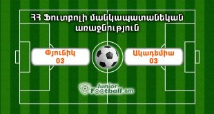 pyunik03 academy03 juniorfootball.am junior football