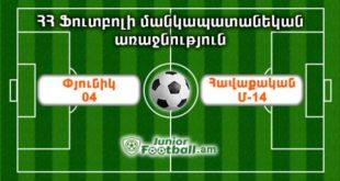 pyunik04 havaqakanm14 juniorfootball.am junior football