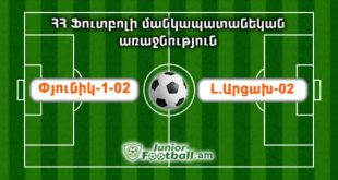 pyunik102 artsakh02 juniorfootball.am junior football