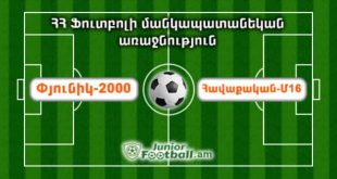 pyunik2000 havaqakanm16 juniorfootball.am junior football