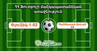 pyunik102 gandzasaryerevan02 juniorfootball.am junior football