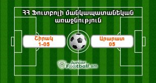 shirak105 ararat05 juniorfootball.am junior football