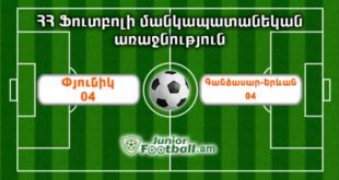 pyunik04 gandzasaryerevan04 juniorfootball.am junior football