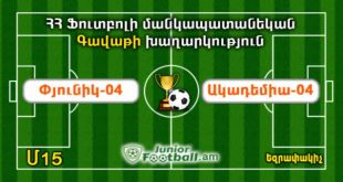 pyunik04 academy04 cup juniorfootball.am junior football